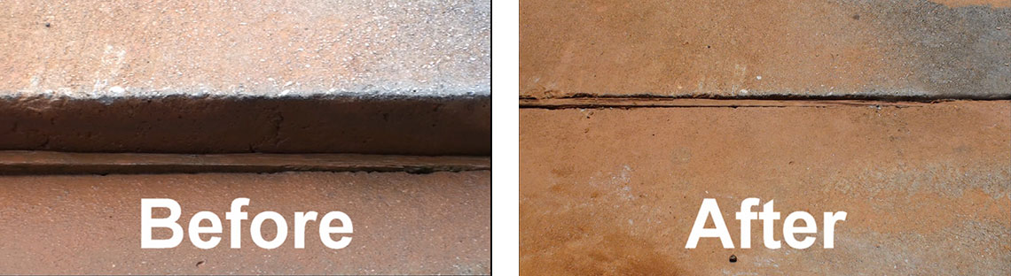 Slab Before and After